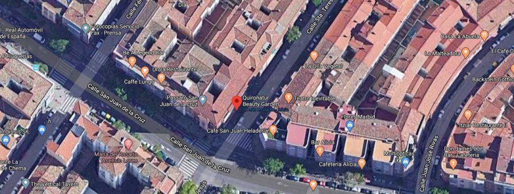 LOCALIZACIÓN DE QUIRONATUR EN CALLE SANTA TERESA ZARAGOZA