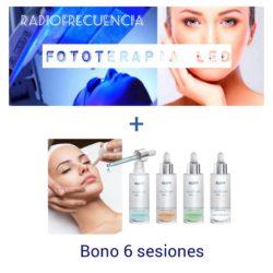 Radiofrecuencia + fototerapia + sea delight klapp = tratamiento facial