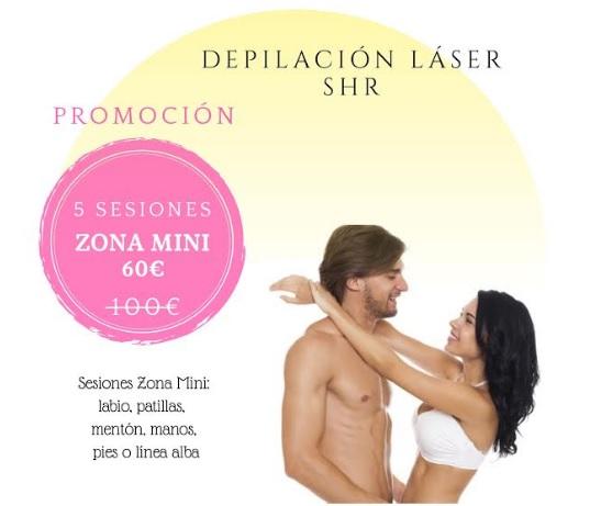 zona mini depilación láser de diodo shr