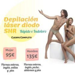 CUERPO ENTERO DEPILACIÓN LÁSER DIODO SHR