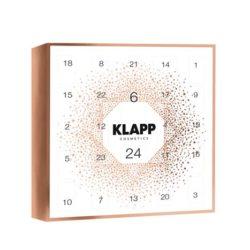 calendario navideño de klapp cosmetics